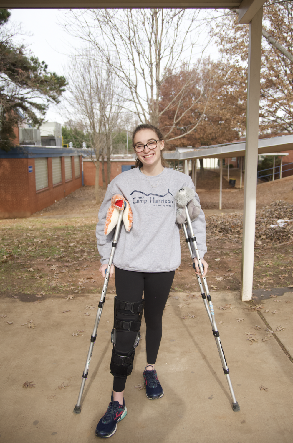 Shober tore her ACL after one of her soccer games. She is currently recovering but has stayed positive throughout it all.